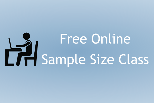 Free online Sample Size course